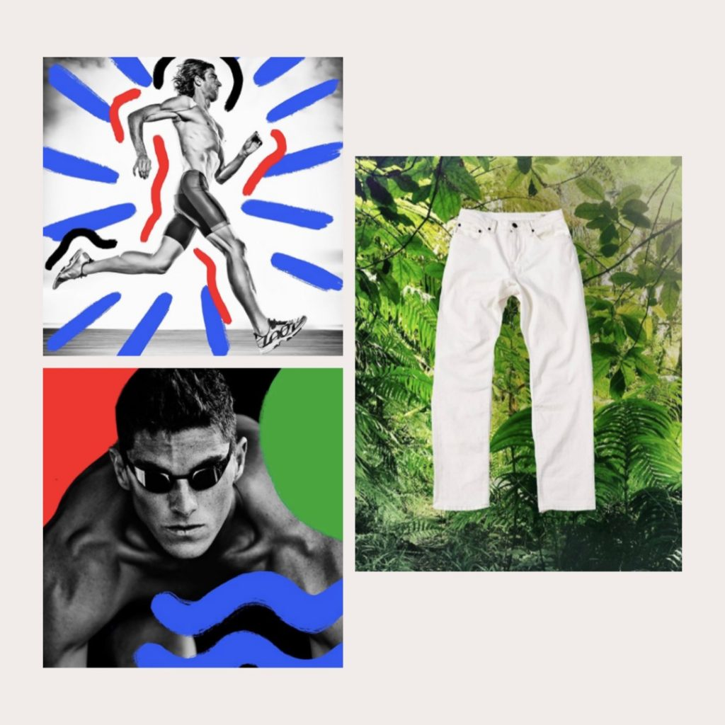 District Vision and Assembly NY create collages with studio campaign photography and creative shapes and textures to repurpose photography
